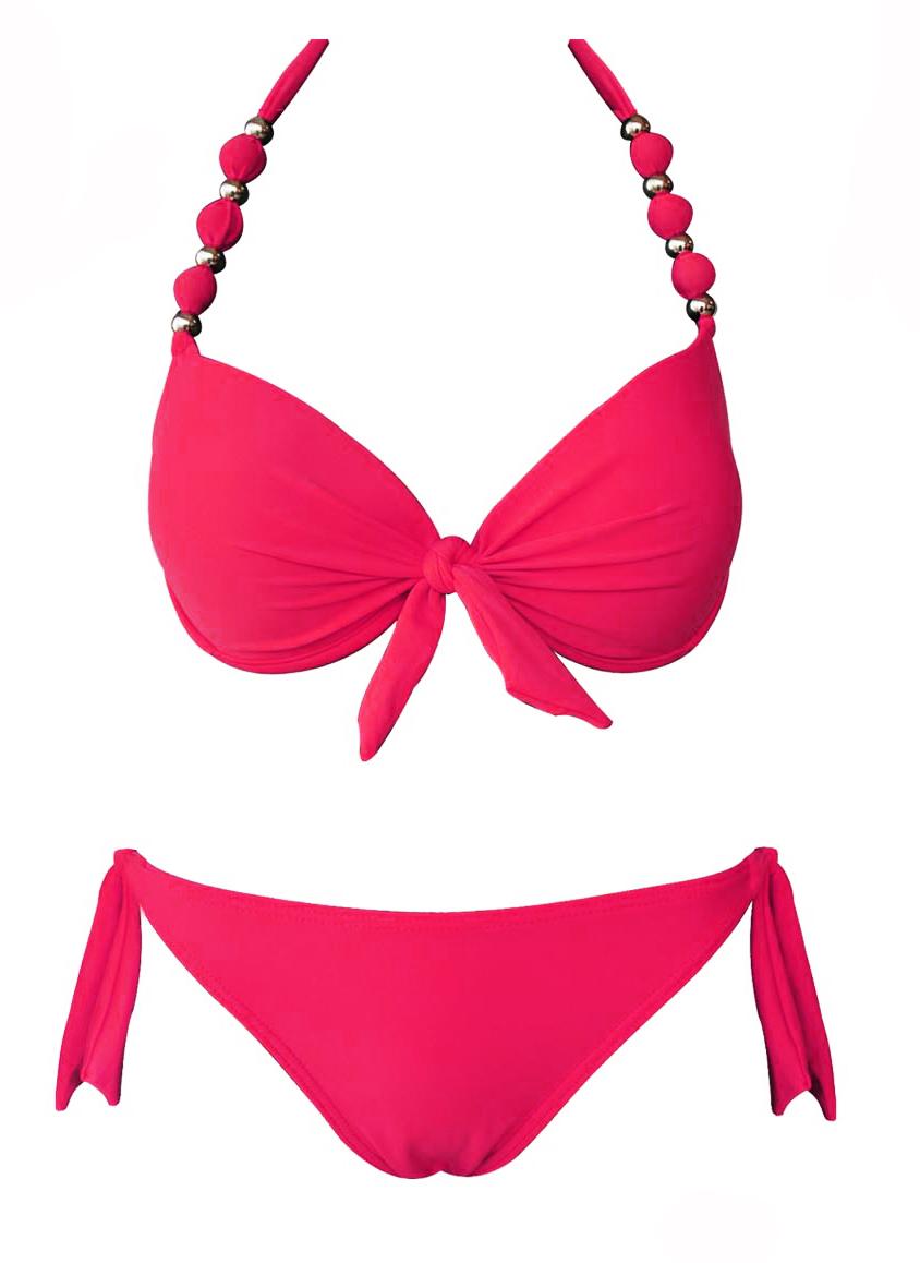 maillot de bain femme bikini push up rose. Black Bedroom Furniture Sets. Home Design Ideas