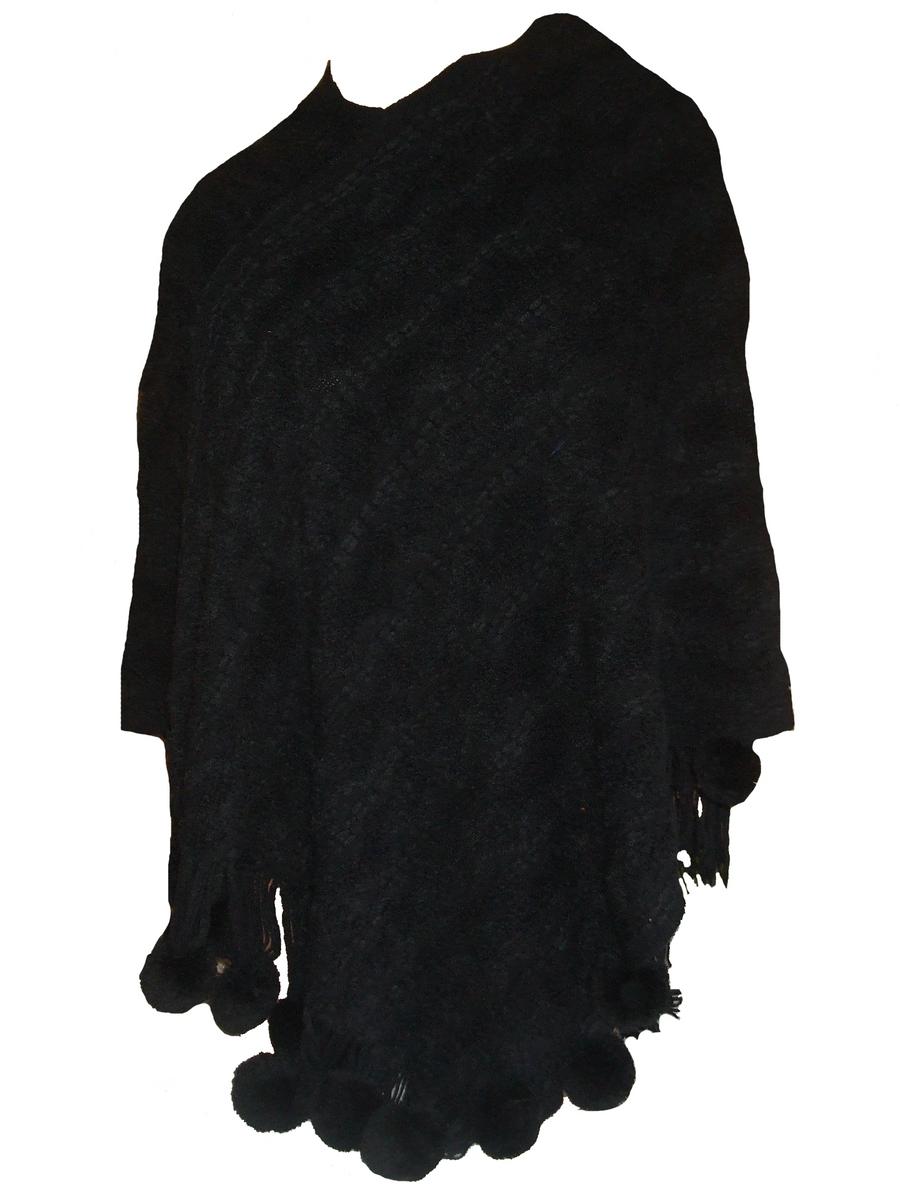 poncho femme noir 381noir accessoires de mode pour toutes les saisons. Black Bedroom Furniture Sets. Home Design Ideas