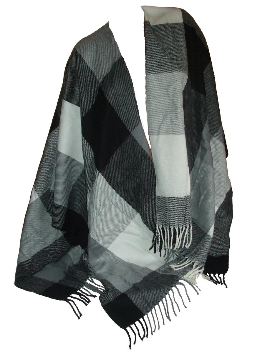 poncho ouvert ecru gris noir ponchoe accessoires de mode pour toutes les saisons. Black Bedroom Furniture Sets. Home Design Ideas