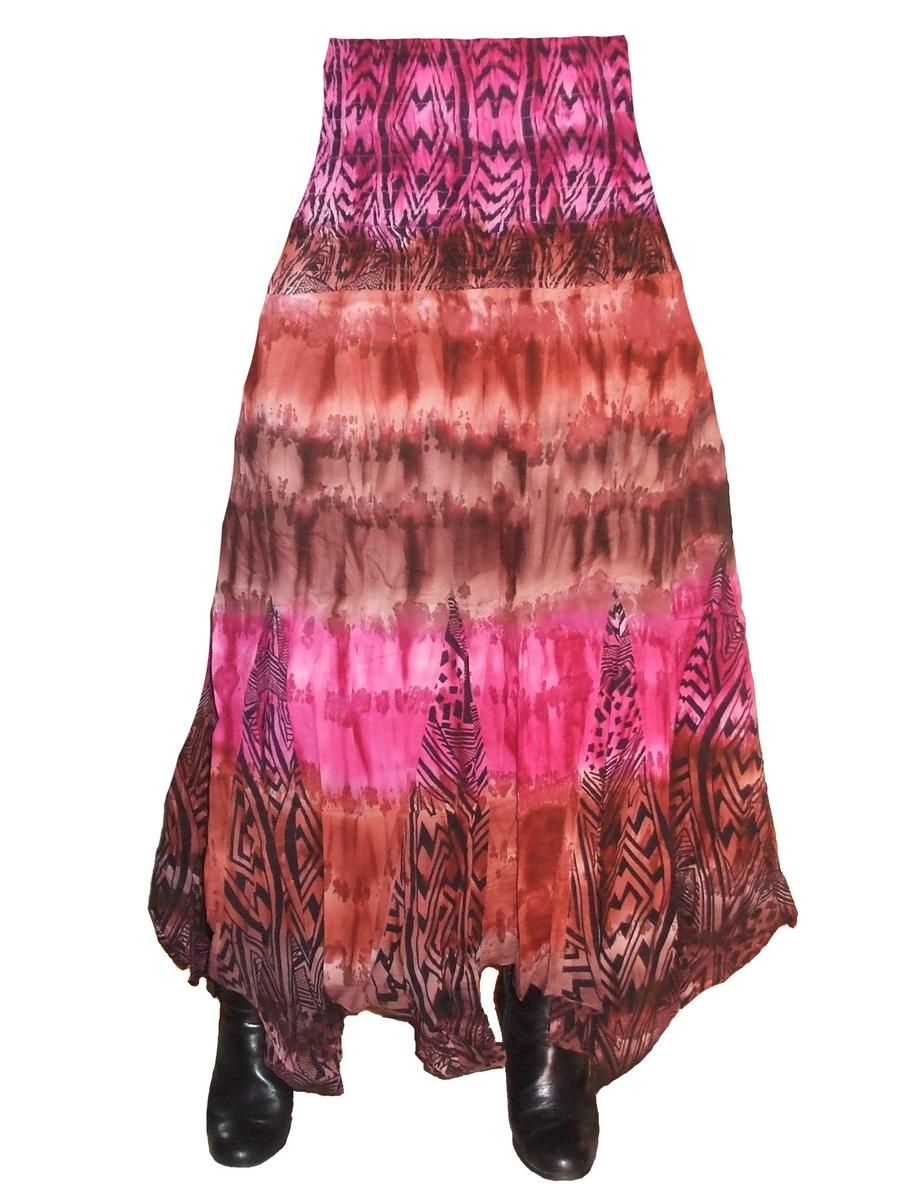 jupe longue asym trique marron rose juperg accessoires de mode pour toutes les. Black Bedroom Furniture Sets. Home Design Ideas