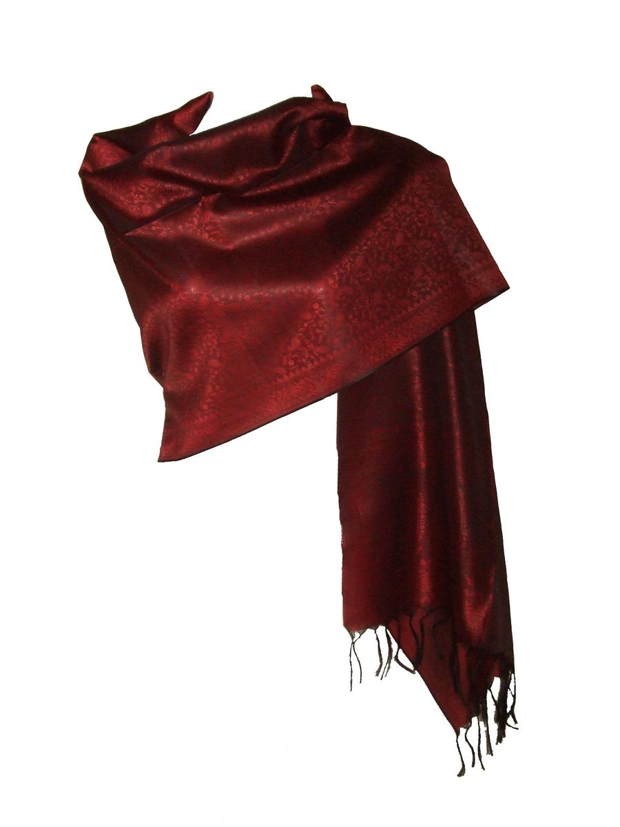 56436b4751b Etole Fine Echarpe Femme Rouge Bordeaux BCErouge   itendance.com ...